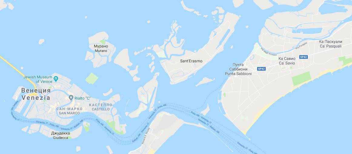 ostrova-venezii-karta-na-russkom